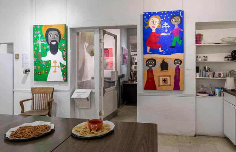 Ethiopian Paintings in Exhibit | Photo Credit: Eva Blue