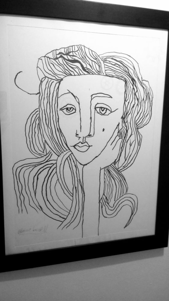 Woman Ink Drawing by Alana Barrell